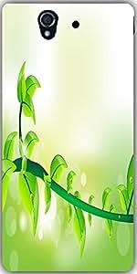 Snoogg Fresh Green Leave Illustration For Vector Designer Protective Back Cas...