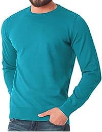 Celodoro - Pull à manches longues - 100 % coton peigné - homme - différents coloris disponibles et tailles S à 3XL