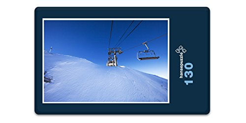 hansepuzzle 43131 Sport - ski, 130 Teile in hochwertiger Kartonbox, Puzzle-Teile in wiederverschliessbarem Beutel