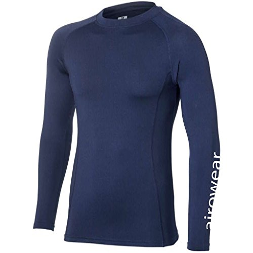 Airowear Bodybase Sport Base Layer Top Medium (Jnr) navy (Top Lightweight Layer Base)