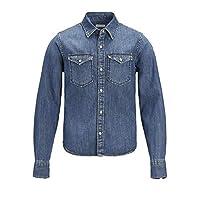 Jack & Jones Men's Jjewestern Sheridan Noos Jr Shirt, Blue (Medium Blue Denim), Size 140