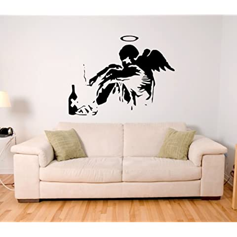 ANGEL GIRL BANKSY Sticker, Wall Art, Mural, Giant, Large, Decal, Vinyl, 153cm (W) X 115cm (H) - Ex Large