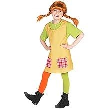 Pippi Langstrumpf Kostüm für Kinder - 3teilig - grün/gelb - Maskworld Lizenz Filmkostüm