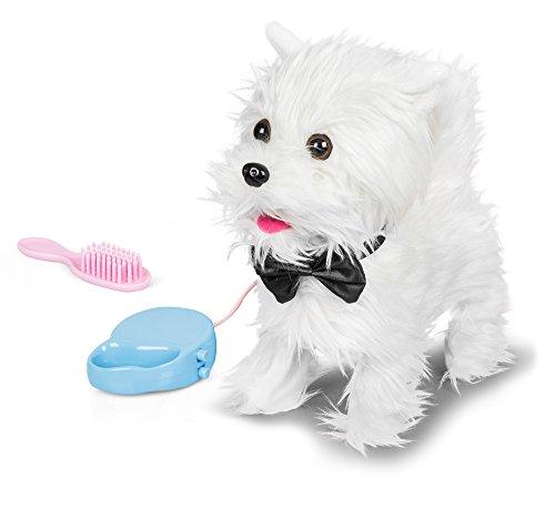 Tobar Walking Westie -Perro animado de felpa con sonido