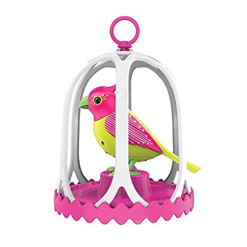 Preisvergleich Produktbild DigiBirds 88297 – DigiBird Costa mit Käfig und Pfeifring, Elektronische Haustier, circa 13 x 11 cm