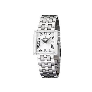 FESTINA F16468/3 - Reloj de mujer de cuarzo, correa de acero inoxidable color plata de FESTINA