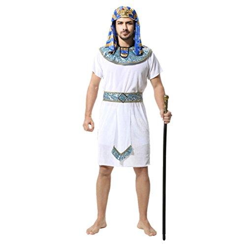 Zhhlaixing - Costume Faraone,Cosplay Halloween Carnevale Feste Costume Attrezzatura Costume Fancy Dress Uomo,Taglia Unica