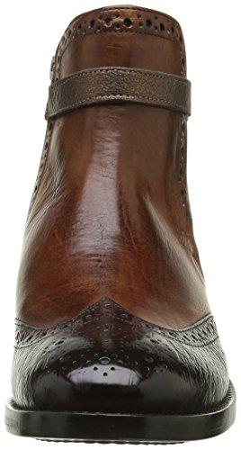 Melvin & Hamilton Amelie 11, Bottes Chelsea Femme Multicolore (Baby Croco Dk Brown Crust Wood Strap Aztek Bronze Ls)
