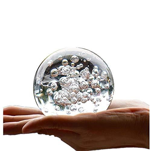 TYGJB Kristall Marmor Wasser Brunnen Bubble Ball Feng Shui Dekorative Glaskugeln Home Indoor Wasser Brunnen Figuren (80mm)