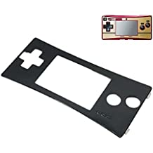 Zhhlinyuan Front Shell Faceplate Case Cover para Nintend Gameboy Micro GBM Front Panel Black 3692#