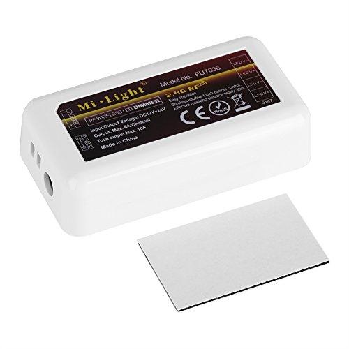 Zerodis Milight 4 Zonen Fernbedienung WiFi Single Color Dimmer LED Streifen Dimmer für LED Streifen Dual White Controller FuT036 Dual-white Led