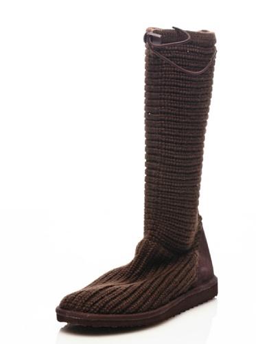 Bottes - 4249-knitsuew DK BROWN