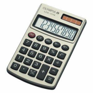 Olympia Taschenrechner LCD-1110 SR 10-stellig Batterie/Solar-Betrieb silber