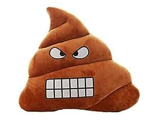 MrStar Emoji Emoticone Coussin Oreiller Peluche Souple Merde Visage Style3