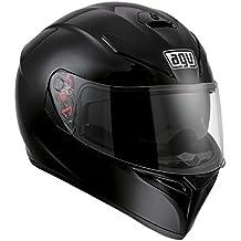 AGV Moto Casco K de 3SV E2205Solid, Black, tamaño XS
