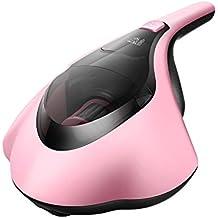 PUPPYOO Mini Limpiador Anti-ácaros Doméstico con cable con UV Luz de Rayos Ultravioleta Aspiradora para hogar Aspiradora Electrodoméstica,color rosado