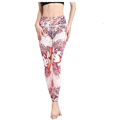 Techecho Yoga Pants Constellation Druck Yoga Pants weiblich eng anliegende, Quick Dry Elastic Leggings Outdoor Fitness Hose (Farbe: Waage)