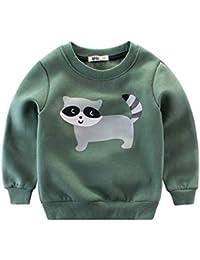 XXYsm Unisex Baby Tops Sweatshirt Langarmshirts Jungen Mädchen T-Shirts Langarm Cartoon Tier drucken Oberteile