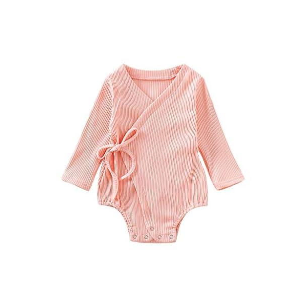 Conjuntos de Mameluco para niños de Halloween Bebé recién Nacido bebé niños niñas Manga Larga sólido Kimono Mameluco… 1