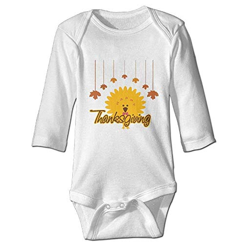 Monicago Neugeborenes Baby-Jungen-Mädchen-Bodysuit-Lange Hülse, Thanksgiving Day Baby Cute Outfits Long-Sleeve Bodysuits