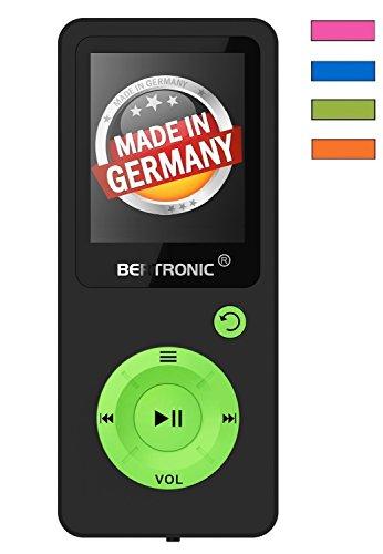 BERTRONIC Made in Germany BC08 Royal MP3-Player, 8 GB Bis 100 Stunden Wiedergabe Radio   Portabler Player mit Lautsprecher   Audi