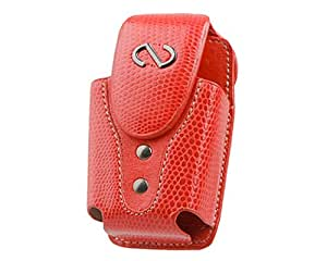 Naztech Boa Matching Key Chain and Swivel Belt Clip for SML / MED Flip Phones (Red)