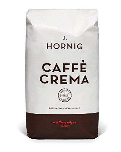 J. Hornig Caffe Crema | Kaffee Ganze Bohne | 1000g | perfekt für Vollautomaten und...