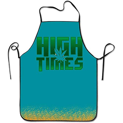 Indianer Ziel Kostüm - Bee Brown Schürzen Lustige Schürze Chef Kitchen Cooking Apron Lätzchen Legalize Weed High Time Cooking Durable
