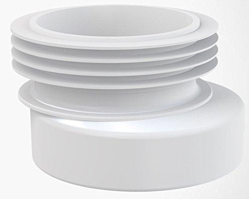 110 Anschluss (Manschette Rosette für WC- Anschluss Ablaufgarnitur Anschluss DN 110 Ausführung außermittig Versetzung 20 mm)