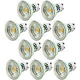 10Pack GU10 Bombillas LED Equivalente de halógeno de 50W, 5W 400-450Lumens, AC200