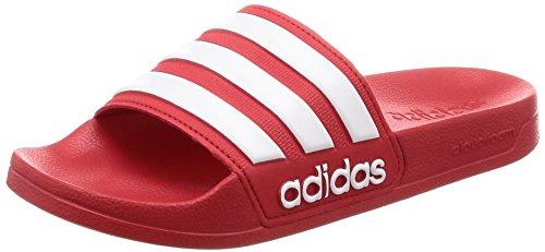 Adidas Adilette Shower, Herren Dusch- & Badeschuhe, Rot (Scarlet/Ftwr White/Scarlet Aq1705), 42 EU -