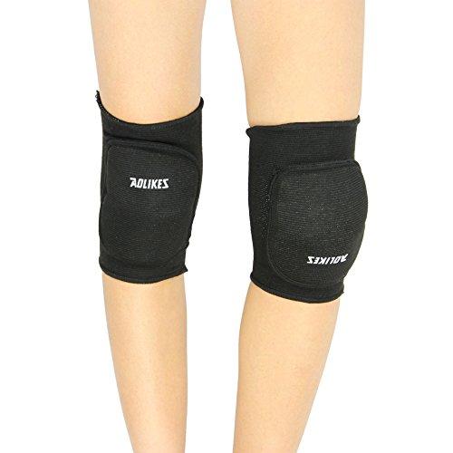 Preisvergleich Produktbild Liying Neu Knieschoner Kniebandage Knieschützer Schoner Proteckor Indoor für Kinder,  Schwarz1