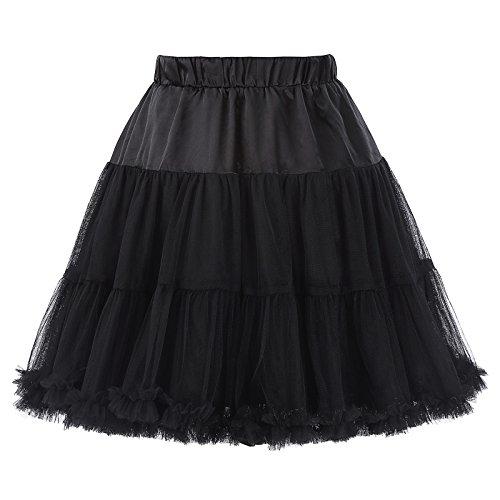 petticoat underskirt unterrock Crinoline Wedding bridal rockabilly petticoat schwarz Größe S-M BP226 -