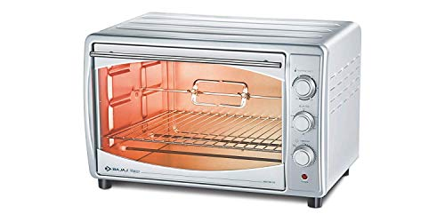 Bajaj Majesty 4500 TMCSS 45-Litre Oven Toaster Grill (Silver) with Free Laptop Backpack