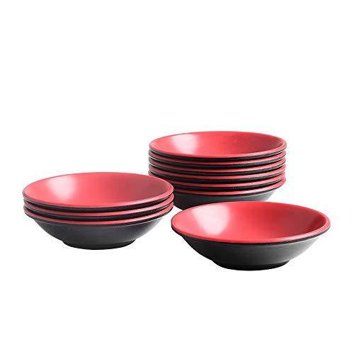 Porzellanschalen-Set, quadratisch Sauce Dish Type 9 rot - Sauce Dish Set