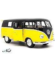 Negi Kinsmart Bus 1:32 1962 Volkswagen Classical Bus Open Door Bus Metal Bus Die-Cast Bus Pull Back Bus