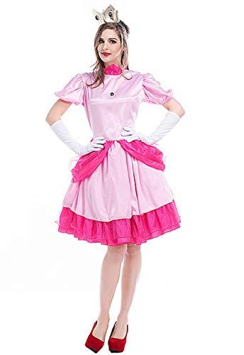 (Super Mario Erwachsene Prinzessin Peach Kostüm (Medium (32-34)))
