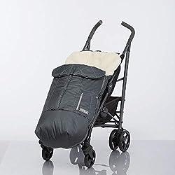 Chancelière pour bébé avec fourrure de mouton doublée pour poussette, poussette et luge de L'Atelier Alpine. Convient également comme tapis de jeu et tapis d'éveil