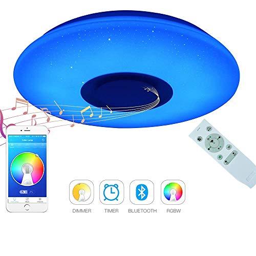 Luz LED de techo para música de 19.7 pulg. Con accesorio para...