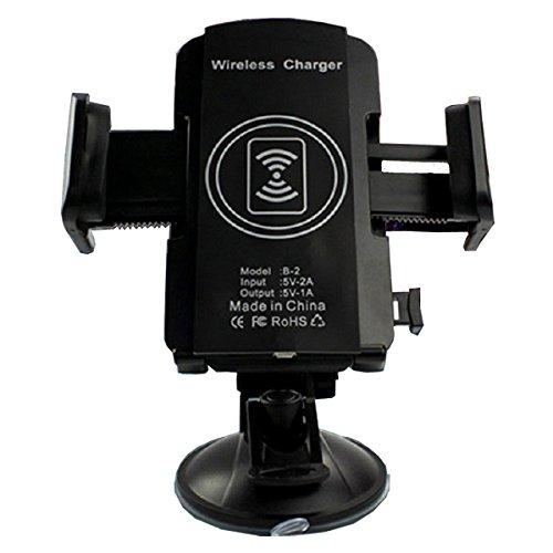 KFZ-Ladegerät Transmitter, megadream® 360° KFZ Rotation Handy Ladegerät Halterung Station kompatibel Saugnapf Halterung für iPhone Samsung alle Qi fähigen Smartphones max Klemme 11,9cm Tablet