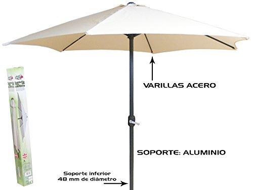 Gerimport Sonnenschirm 3m Rohr Aluminium 48mm -