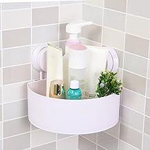 Ouneed plástico Cuarto de baño cocina almacenamiento Triángulo de organizar Estantería de esquina ...