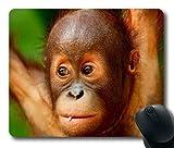 Yanteng Bebé Orangután simio Mono animalesAlmohadilla para ratón personalizadaRectangle Mouse Pad Gaming Mouse Mat