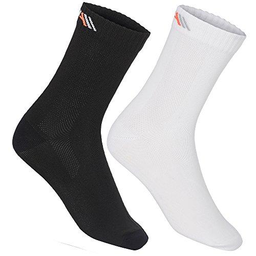 3er Packung hochwertiger Quarter Socken von CFA Compression For Athletes. Perfekt für alle Sportarten, Laufen, Arbeit und Alltag. Ultraleichte Materialien und ein hoher Feuchtigkeitstransport. Für Männer und Frauen. In der EU hergestellt. (Weiss - 3 Paare, 43-46)