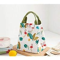 Preisvergleich für Yudanwin Leinwand-Lunch-Tasche Tragbare koreanische frische Isolierung wasserdicht Lunch Bag (White Bird)