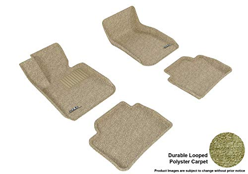 3d MAXpider All 2 Row Custom Fit Floor Mat for select 3 Series (F30) Models - Classic Carpet (Tan)