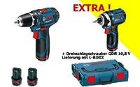 BOSCH GSR 10.8 GDR 10.8 - Kit de atornillador taladrador a batería, ator...