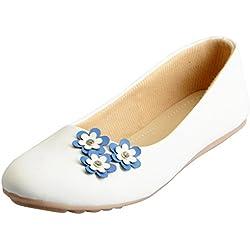 FAUSTO Women's White Ballerina