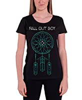 Fall out Boy T Shirt Dreamcatcher band logo Official Womens Skinny Fit 12