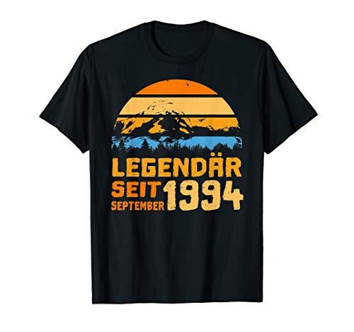 Herren 25. Geburtstag Geschenk Legendär seit September 1994 T-Shirt -